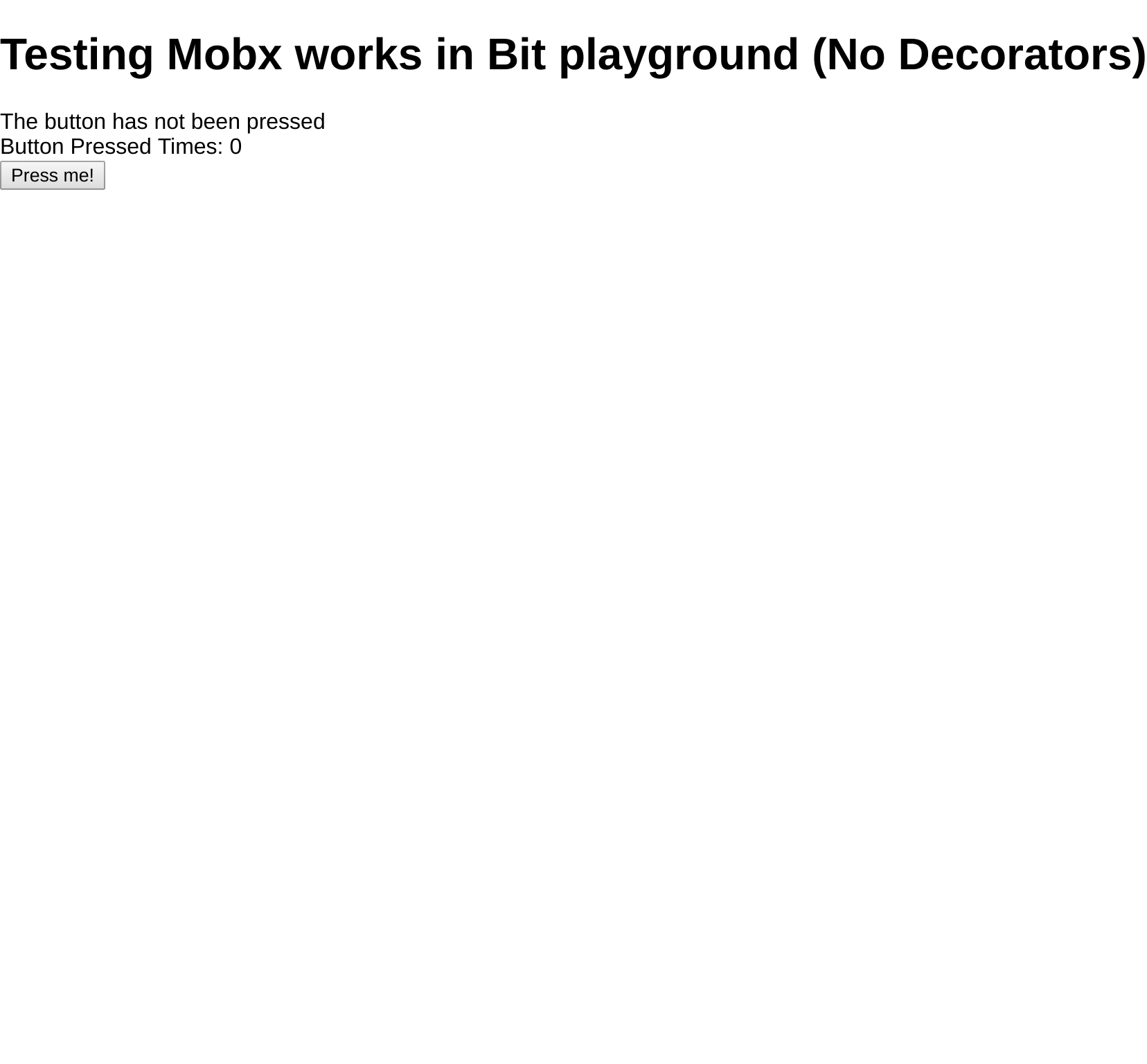 mobx/test-no-decorator - tests · Bit