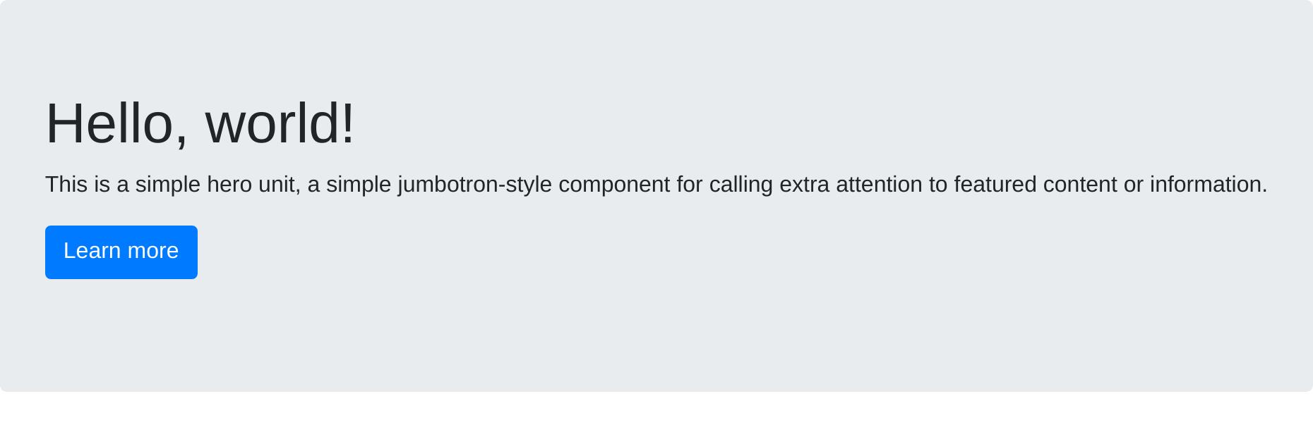 jumbotron - react-bootstrap · Bit